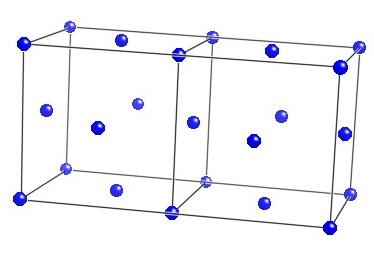 austenite unit cell